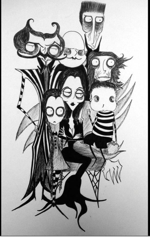 Addams Family por corpsesandcats