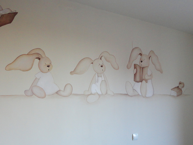 Decopared: mural conejitos