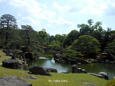 Landscape of the Ninomaru Garden, Nijo Castle in Kyoto, Japan