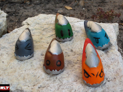 Redline Toy Company - Mini Elemental Slug Resin Figures by Travers Cooke