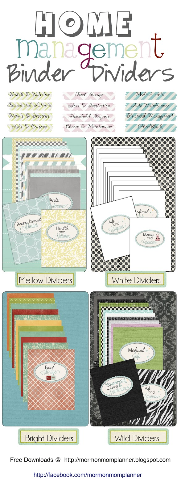 Mormon mom planners monthly planner weekly planner for Home planning binder