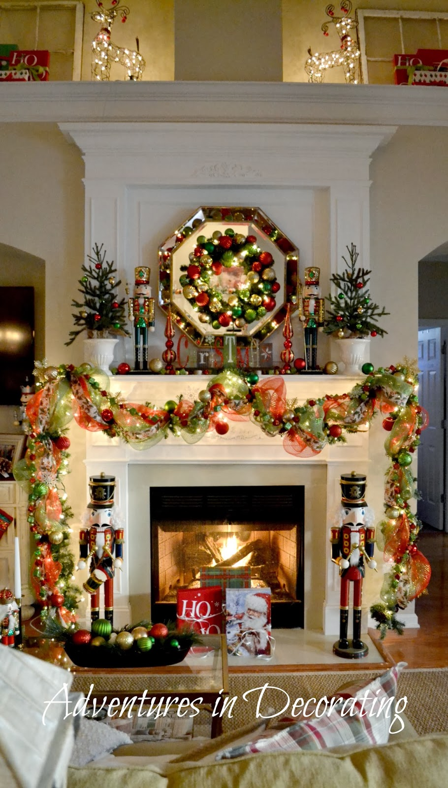 """Adventures in Decorating: Our Christmas Mantel and """"Deck ..."""