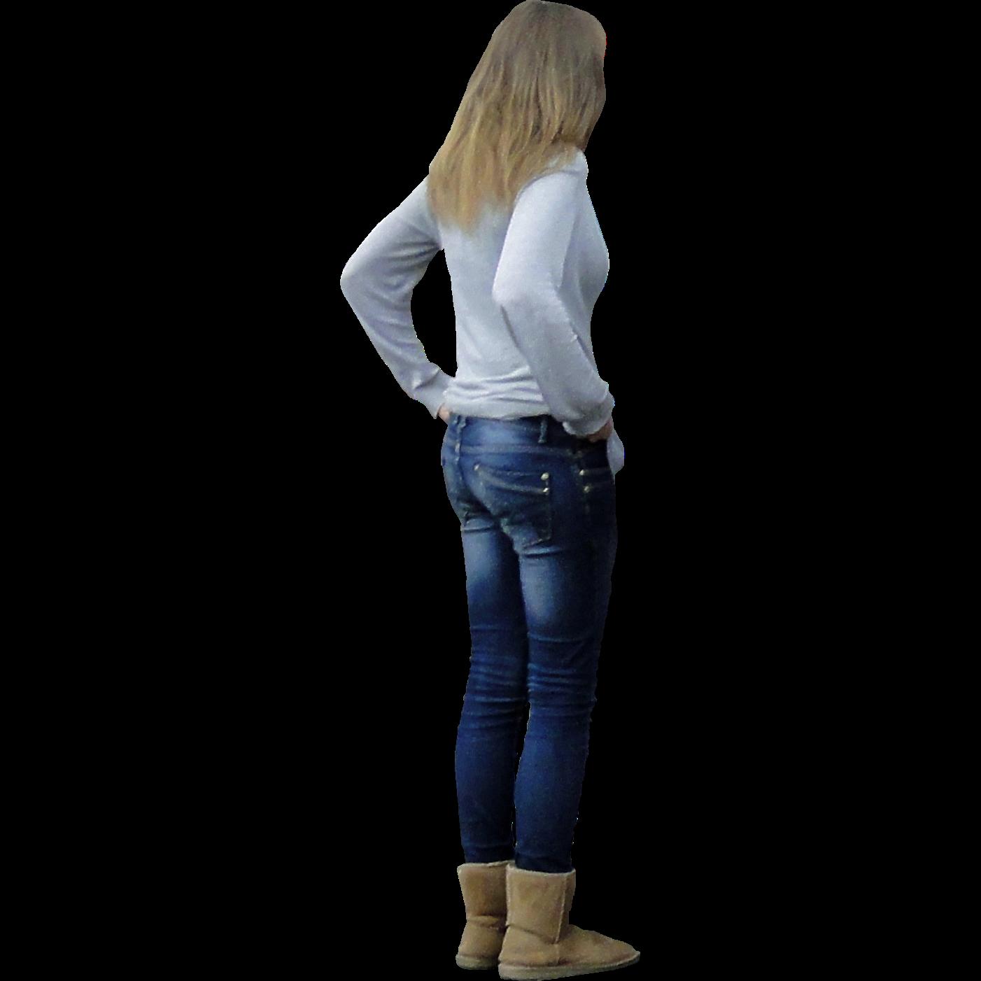 immediate entourage standing girl in jeans