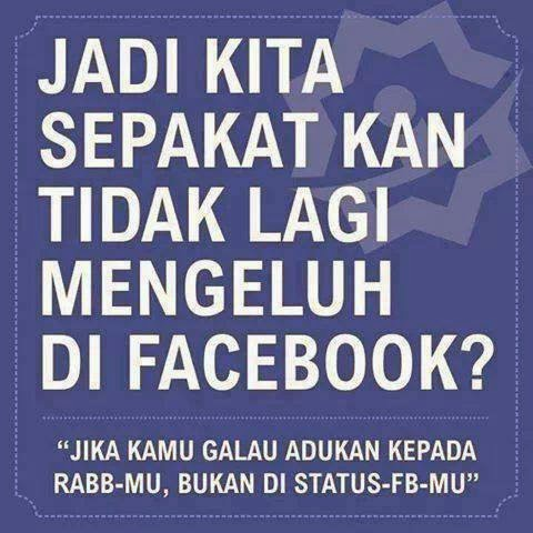 dilarang mengeluh di facebook