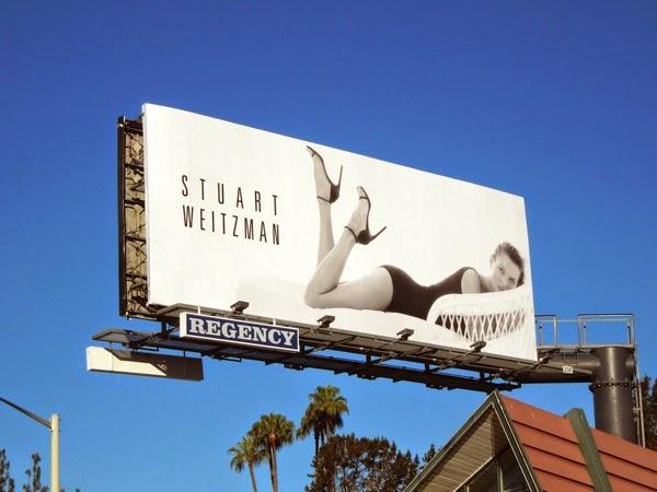 Stuart Weitzman Kate Moss S14 heels billboard