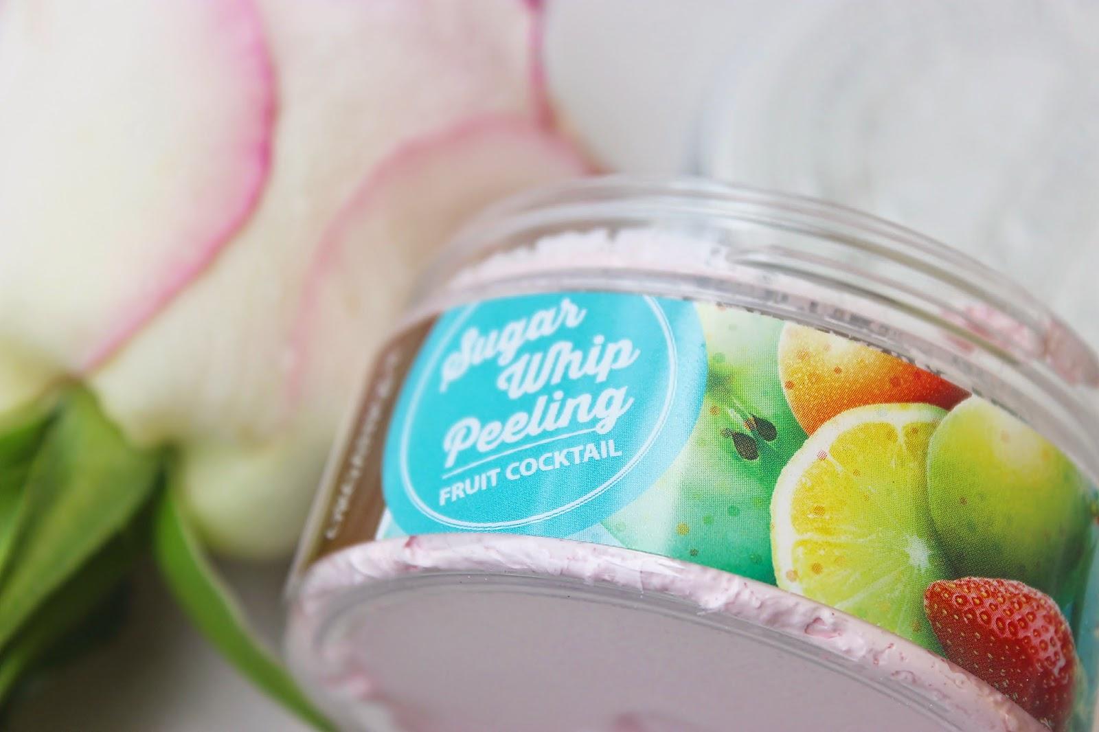 cukrowa pianka peelingująca, Organique, owocowy koktajl, pielęgnacja ciała