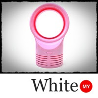 Mini USB Bladeless Fan - Pink