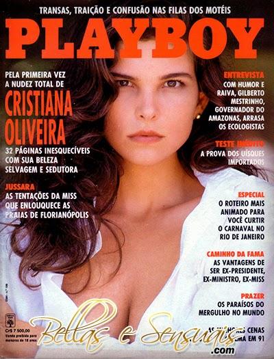 Revista Playboy - Cristiana Oliveira - Fevereiro 1992