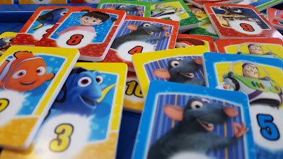 Disney Rummy playing tiles with Disney Characters