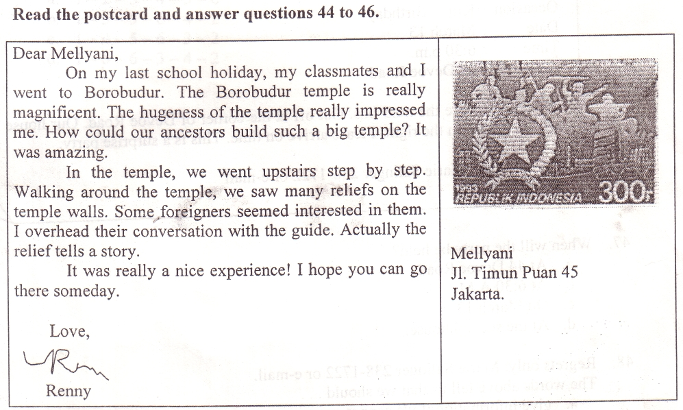 Pembahasan bahasa inggris letter dan latihan everything 1 whom did renny go to borobudur with spiritdancerdesigns