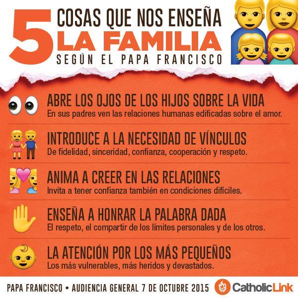 5 Actitudes que aprendemos dentro de la #Familia según el #PapaFrancisco