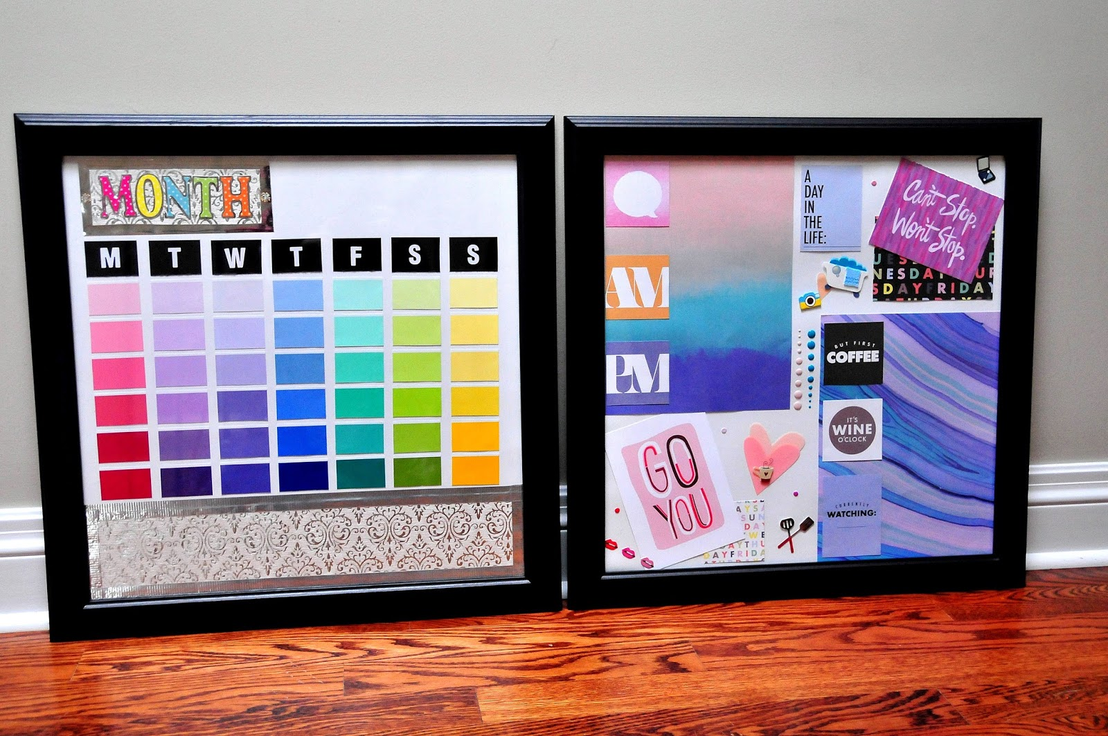 Diy Rainbow Calendar : How to diy dry erase calendar do list self