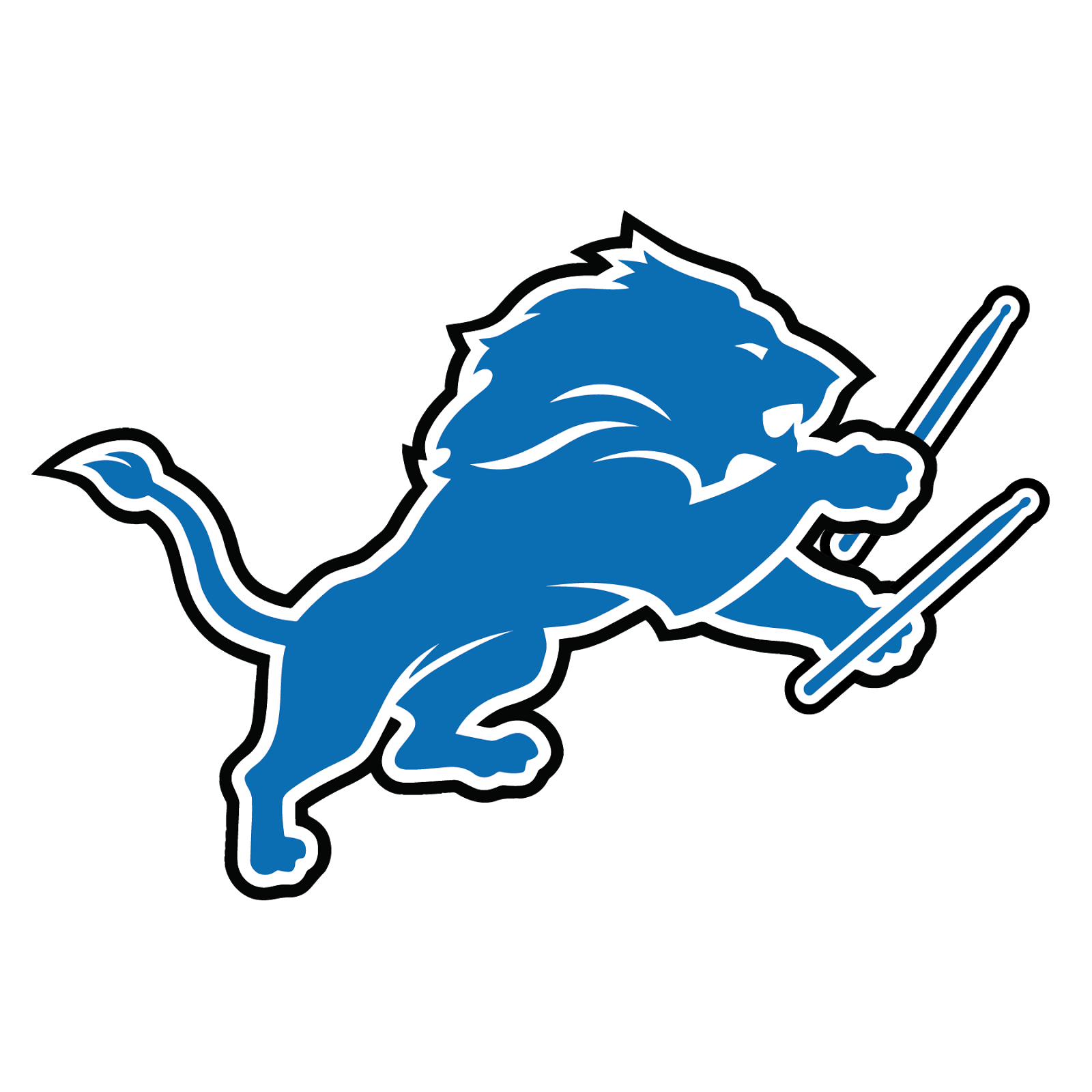 Detroit Lions, metal, logo, re-imagined