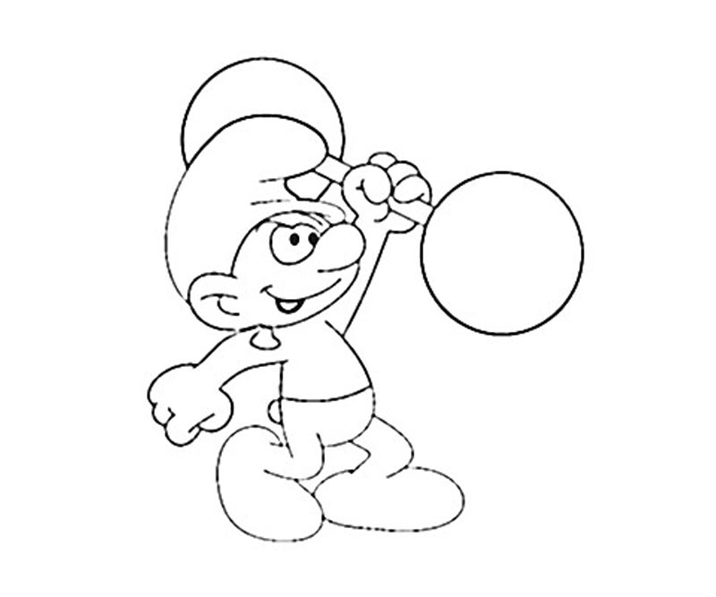 #6 Hefty Smurf Coloring Page