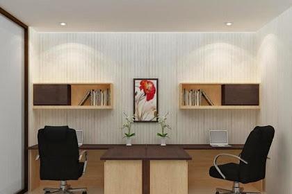 Desain Interior Kantor Meja Kerja Penyekat Ambalan Dinding Inovatif