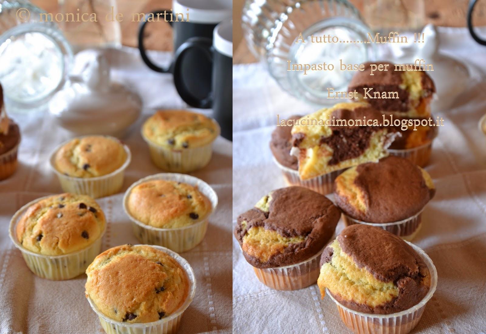 a tutto........muffin !!! impasto base per muffin di ernst knam