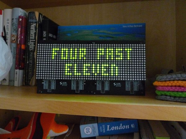 DIY LED Matrix Pong Clock
