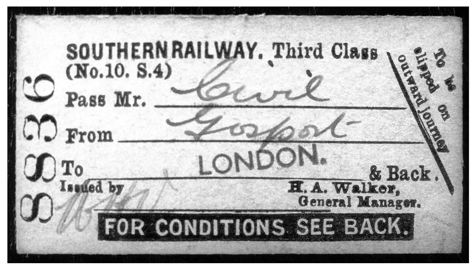 Gosport Ticket