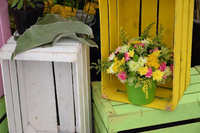 bouquet jaune rose