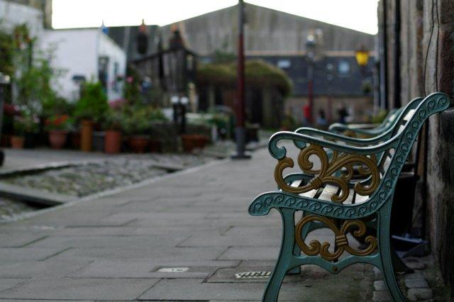 Banco - Barrio pesquero de Fittie, Footdee en Aberdeen