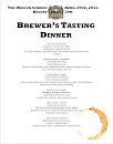 Brewer&#39;s Dinner Menu