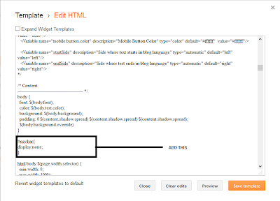 Hide Blogger Nav Bar 3 - ITTWIST