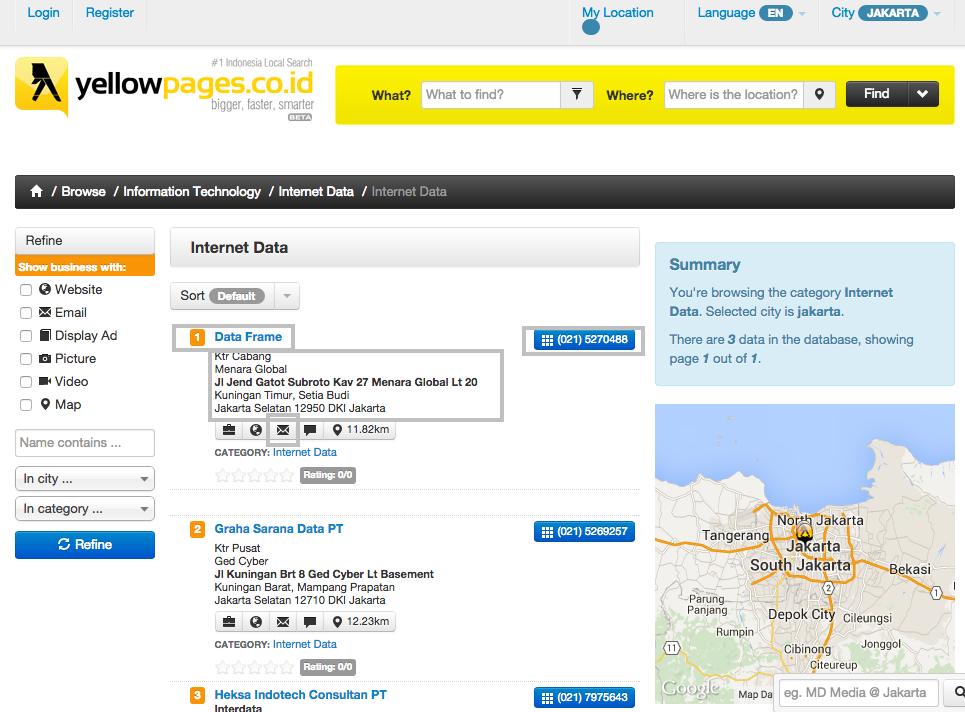 Strategi pemasaran jasa dan produk di yellow pages