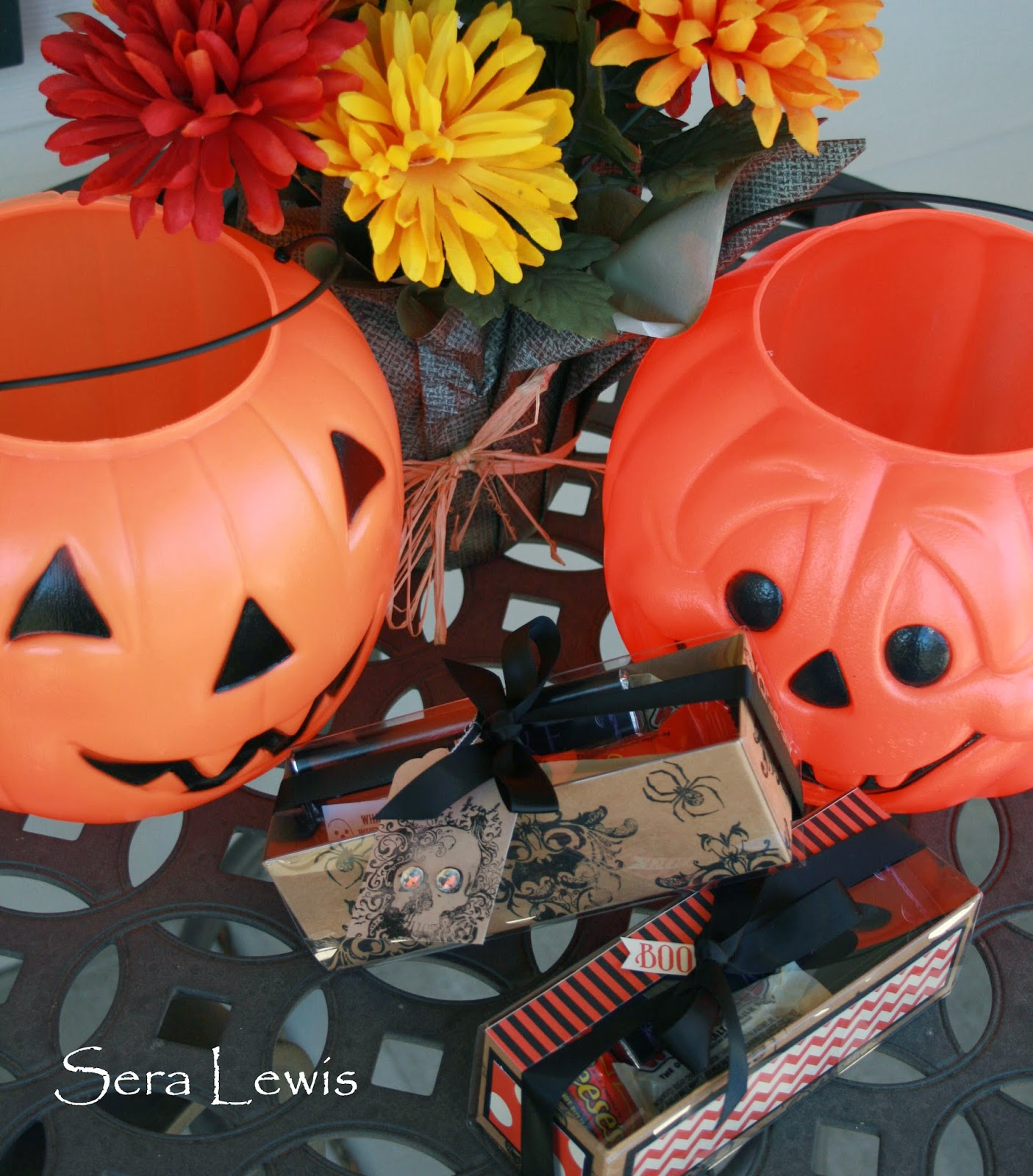 Halloween gifts for the office using Tag a Bag gift boxes