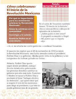 xploración de la Naturaleza y la Sociedad 1er grado Bloque 2 lección 5 Cómo celebramos: El inicio de la Revolución Mexicana