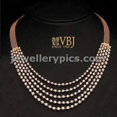 solitire diamond step necklace by vbj