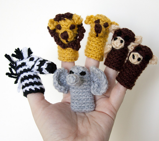 Show And Tell Meg Crochet Update Jungle Friends Finger Puppet Gang