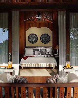 Kemewahan ruang tidur di Pavillion Melaleuca.