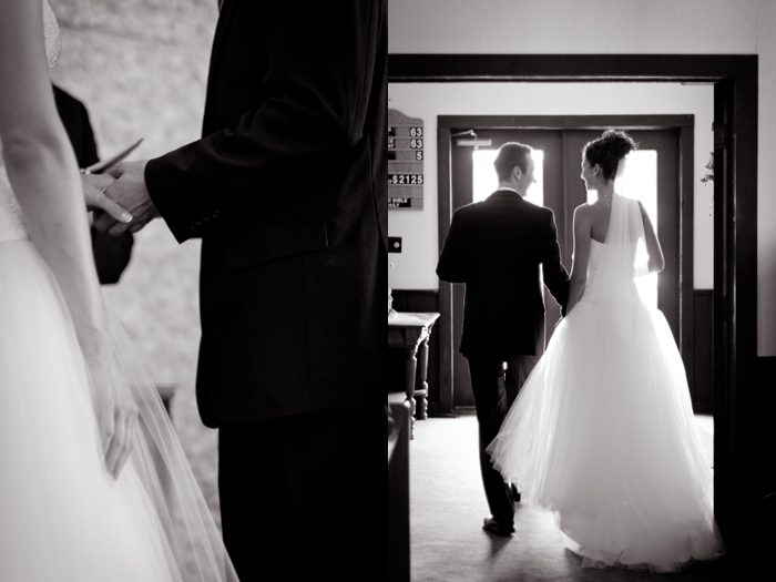 Black & White wedding photos, ring exchange photo, wedding silhouette