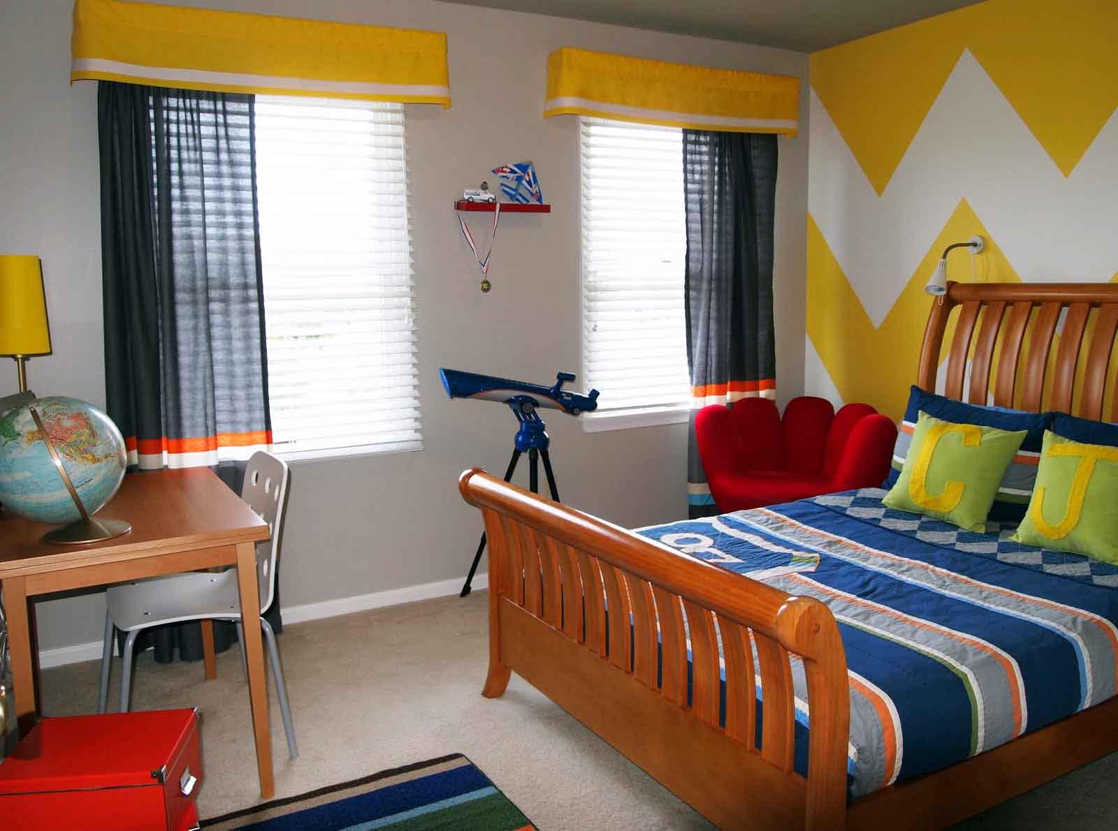 Дизайн штор в подростковую комнату