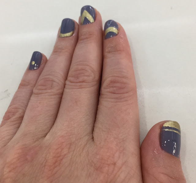 Color Club Shabby Drab, Deborah Lippmann Nefertiti, The House of Polish, geometric nail art, nails, nail polish, nail lacquer, nail varnish, manicure, #ManiMonday