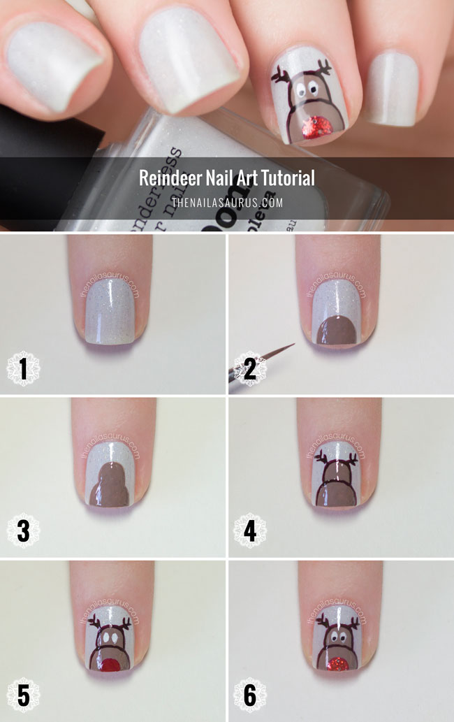 Reindeer Nail Art Tutorial - The Nailasaurus | UK Nail Art Blog
