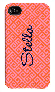 Happy Habitat Custom Design iPhone Case- Greek Key with Name