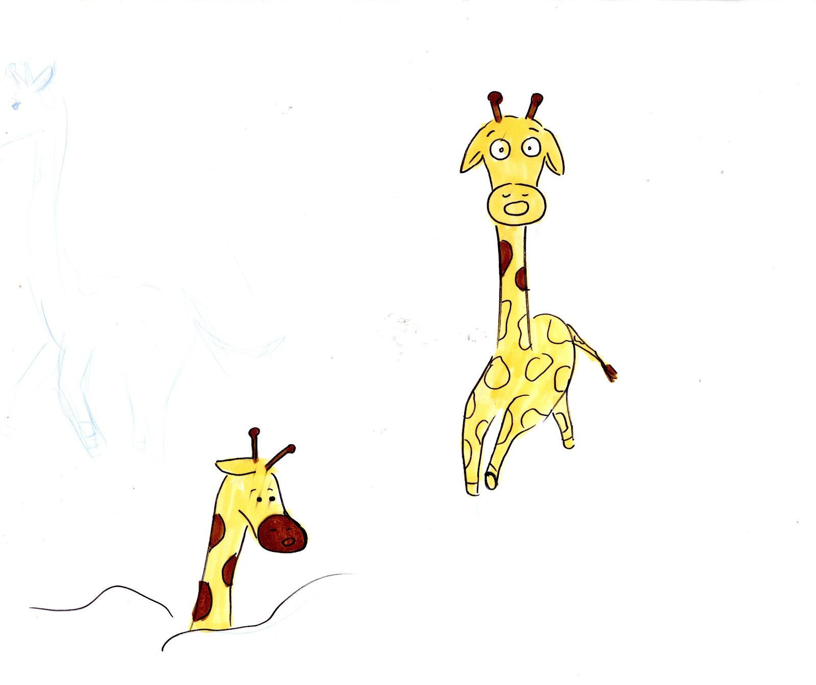 Giraffe outline drawing