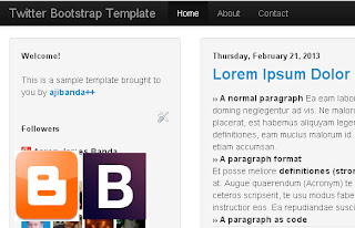 How To Create Your Own Blogger Template for Free Using Twitter Bootstrap