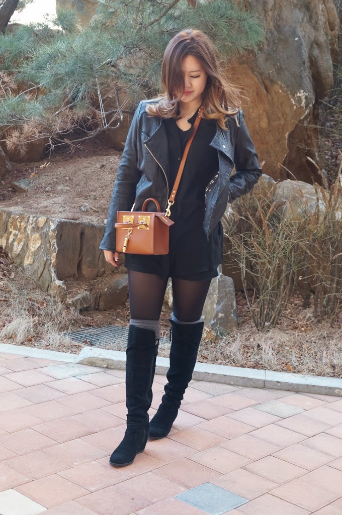 Leather Jacket and Sophie Hulme 2