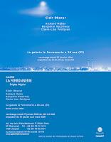 Richard Müller: carton exposition Clair Obscur galerie la Ferronnerie