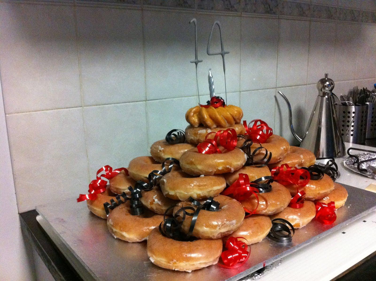 Cookingnotes Krispy Kreme Cake My No Bake Donut Birthday Cake