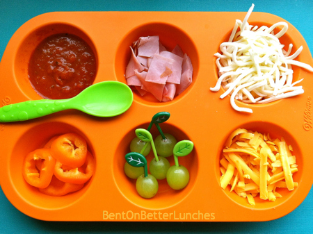 DIY pizza muffin tin meal