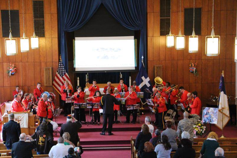 The Irwin Meyer Kings County American Legion Headquarters Band in a recent concert.