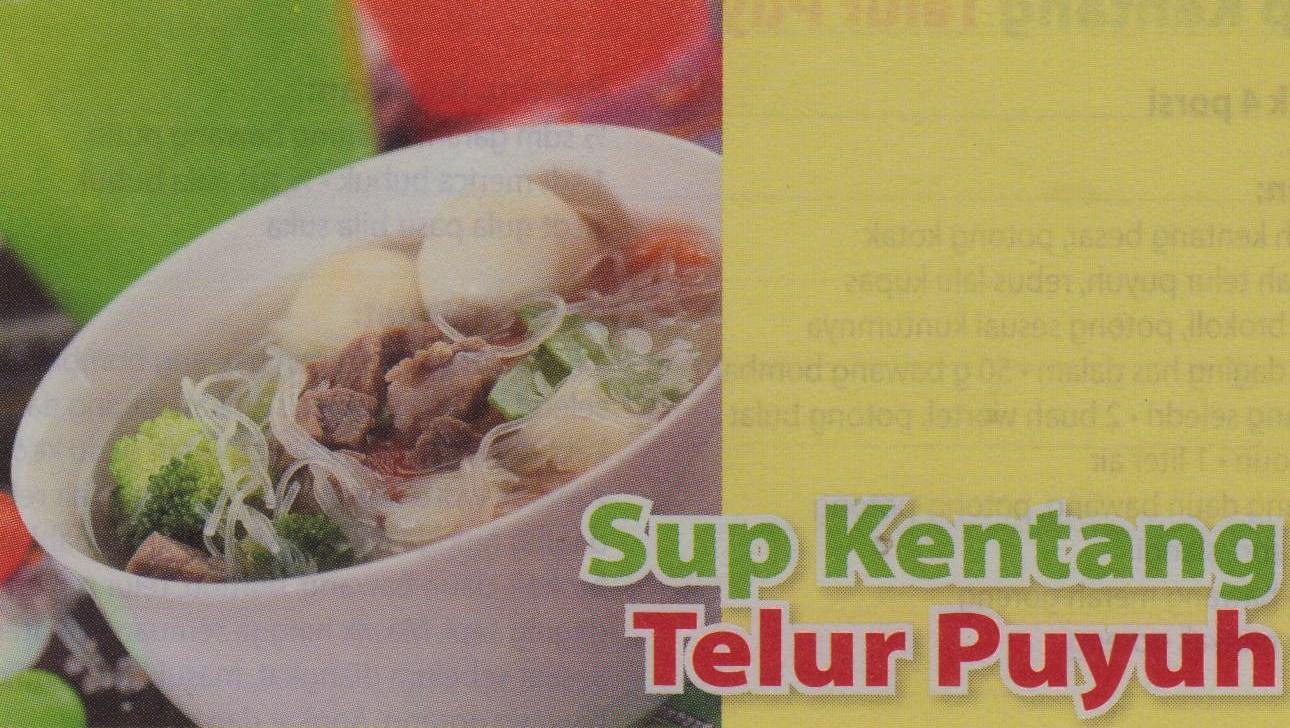 sup kentang telur puyuh resep masakan indonesia