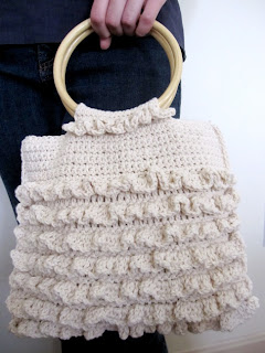Crocheted Ruffled Bag - Free Crochet Pattern   Crochet Direct