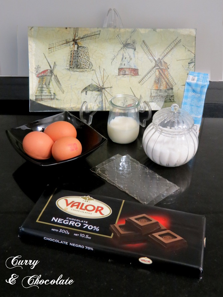Mousse de chocolate intensa  - Ingredientes