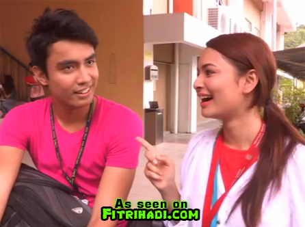 video blooper vanila coklat izara aishah Aiman Hakim Ridza