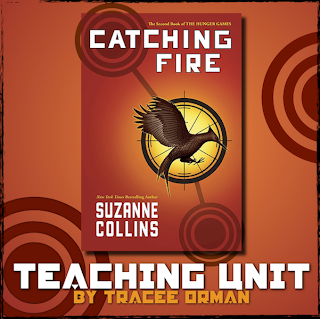 Giveaway time! Win a #CatchingFire Teaching Unit on www.hungergameslessons.com