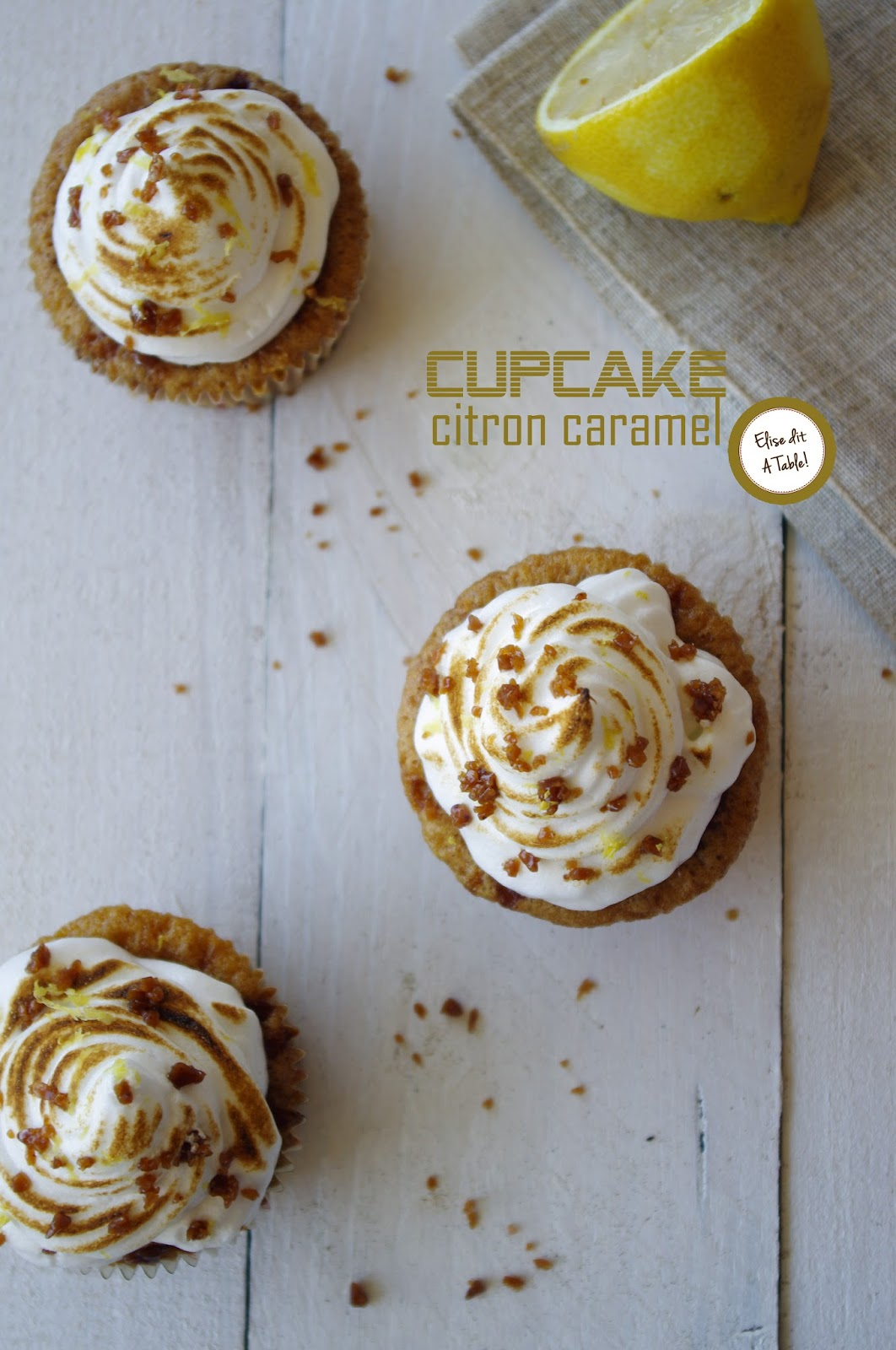 recette Cupcake citron meringué caramel